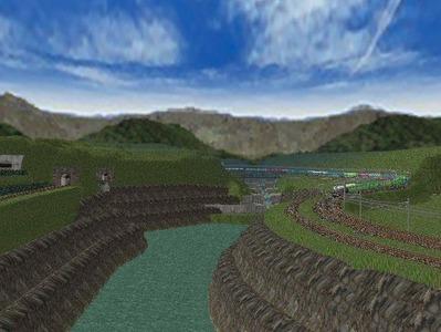 越河レイアウト越河第2ダム湖3