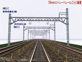 \IMAGIC 3線架線柱鉄骨型 128�正面1