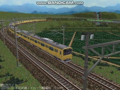 越河レイアウト電車シリーズ71-201系総武線カナリア10