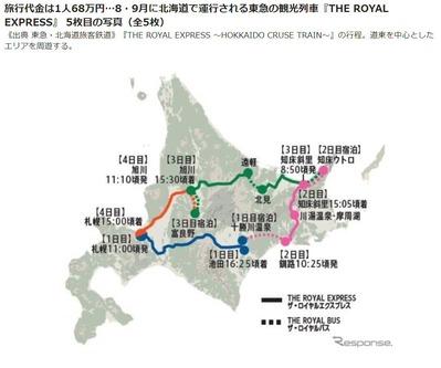 JR北海道の路線図1