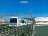 進撃の通勤電車37  JR209系ブルー5