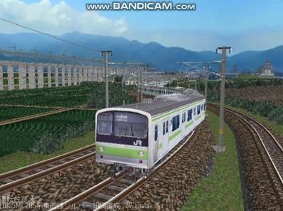越河レイアウト電車シリーズ78-205系山手線2