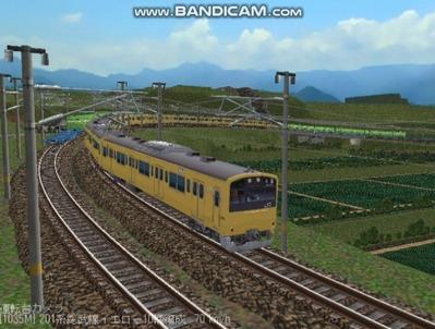 越河レイアウト電車シリーズ71-201系総武線カナリア9