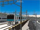 進撃の通勤電車37  JR209系ブルー1