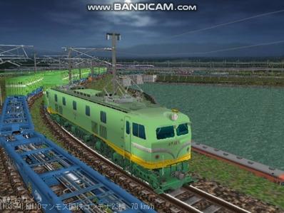 越河レイアウト夜汽車シリーズ18-EF58-45青大将コンテナ5