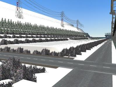 仮想日本海縦幹線雪景色制作20