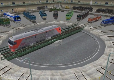 VRM3版車両博物館EF58機関車ターンテーブル1