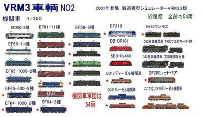 新VRM3車両NO2機関車