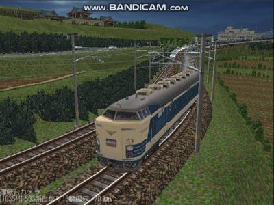 越河レイアウト夜汽車シリーズ2-583系はつかり1