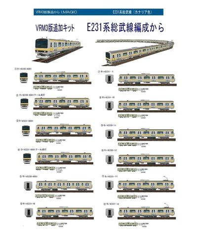 越河レイアウト電車シリーズ73-E231系総武線A