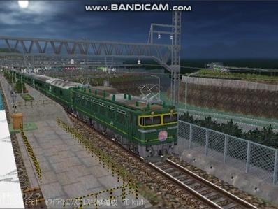 越河レイアウト夜汽車シリーズ4-EF81113トワイライト4