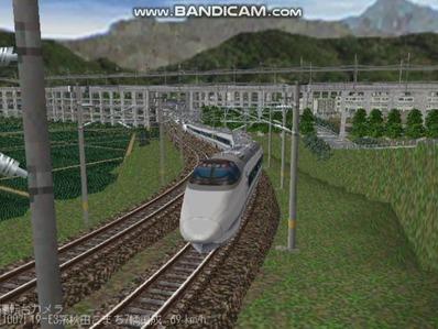越河レイアウト400系+E3系動画2501本記念2