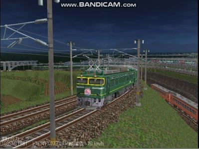 越河レイアウト夜汽車シリーズ4-EF81113トワイライト3