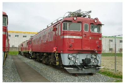 仙台新幹線車両基地展示車両ED77-1