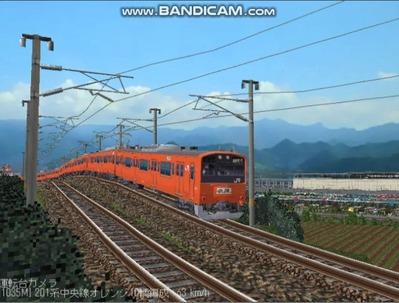 越河レイアウト電車シリーズ69-201系中央線オレンジ中特5