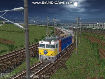 越河レイアウト夜汽車シリーズ5-EF8189カシオペア2