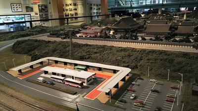 ジオラマ京都HOゲージ右側奥10バスターミナル1