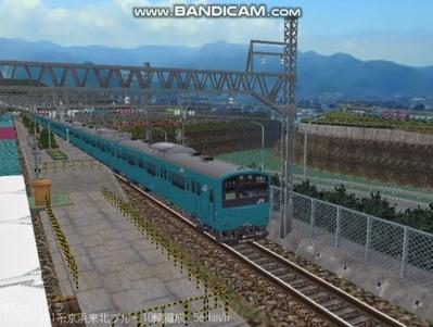 越河レイアウト電車シリーズ70-201系京浜東北スカイブルー4