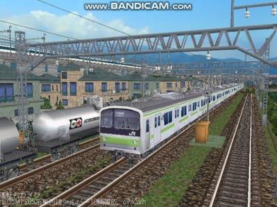 越河レイアウト電車シリーズ78-205系山手線1