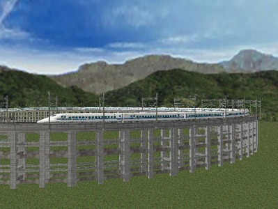 新幹線本線部分制作途中3
