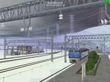 北の貨物駅通過中EF200-4.