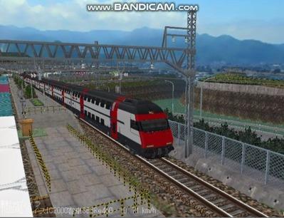 越河レイアウト特急シリーズ56-スイス国鉄IC-2000-4