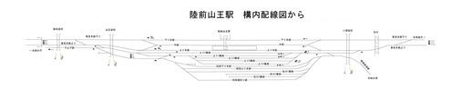 山王駅配線図現示系統図原稿全体図BSS