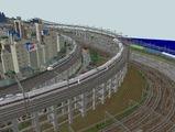 3欲張り新幹線レイアウト踏切道部分98