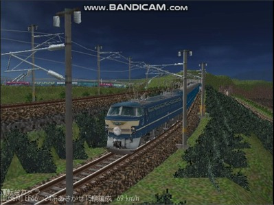 越河レイアウト夜汽車シリーズ9-EF66-39あさかぜ3