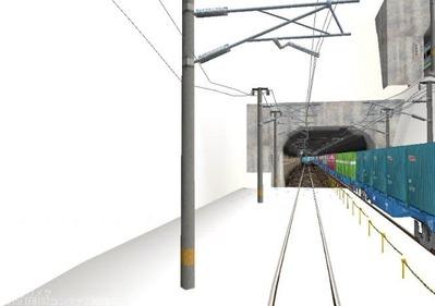 仮想日本海縦幹線雪景色制作8