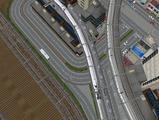 3欲張り新幹線レイアウト踏切道空撮5