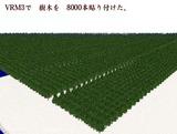 VRM3樹木配置8000本