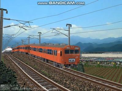 越河レイアウト103シリーズ100-103系J特快高運転台オレンジ色4