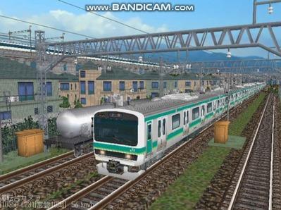 越河レイアウト電車シリーズ72-E231系常磐線1