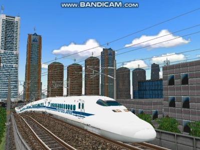 新幹線勾配区間走行700系-1