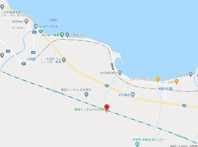 青函トンネル出口付近地図3-1