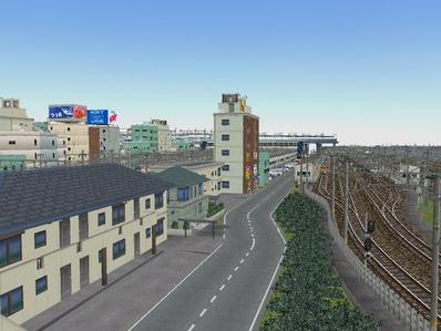 KATOユニトラックレイアウトプラン駅裏と踏切4