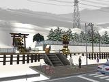 仮想津軽海峡線VRM3神社施工前3