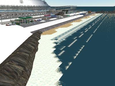 仮想日本海縦幹線雪景色海岸線完成3