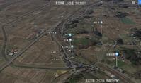 東北本線越河駅航空写真東京方向1