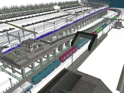 仮想日本海縦幹線雪景色新幹線変電所5