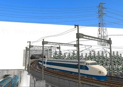 仮想日本海縦幹線雪景色トンネル新幹線6下り