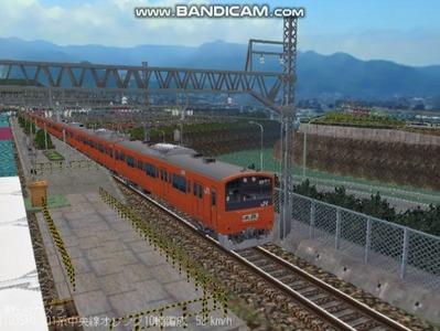 越河レイアウト電車シリーズ69-201系中央線オレンジ中特4