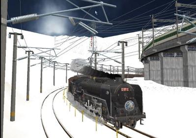仮想日本海縦幹線雪景色C62-10