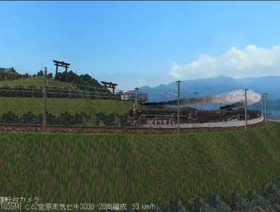 越河レイアウト特急シリーズ番外C62重連セキ3000-6