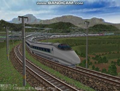 越河レイアウト400系+E3系動画2501本記念8