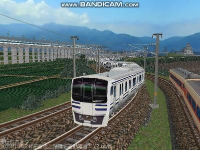 越河レイアウト電車シリーズ80-E217系二階建て2