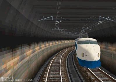 仮想日本海縦幹線雪景色夜明け前0系1