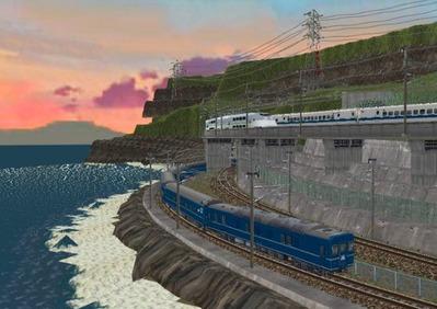 仮想日本海縦幹線日本海夕暮れ12日本海4