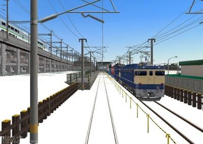 仮想日本海縦幹線雪景色完成青空2